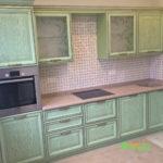 кухня цвет-оливковый, стиль-классический, тип-прямая, кухня-классическая К26