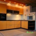 кухня цвет-оранжевый, стиль-модерн, тип-угловая, кухня модерн М05