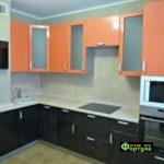 кухня цвет-оранжевый, стиль-модерн, тип-угловая, кухня модерн М30