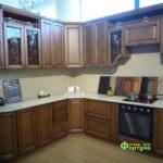 кухня цвет-орегон, стиль-классический, тип-угловая, кухня классическая К41