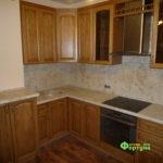 Кухня цвет-орегон, стиль-классический, тип-угловая, кухня классическая К57