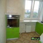 кухня цвет-салатовая, стиль-модерн, тип-угловая, кухня модерн М63-1
