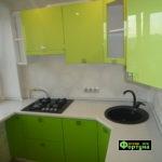 кухня цвет-салатовая, стиль-модерн, тип-угловая, кухня модерн М63