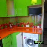 кухня цвет-салатовый, стиль-модерн, тип-угловая, кухня модерн М38-1