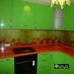 кухня цвет-салатовый, стиль-модерн, тип-угловая, кухня модерн М38