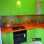 кухня цвет-салатовый, стиль-модерн, тип-угловая, кухня модерн М38-2