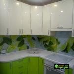 кухня цвет-салатовый, стиль-модерн, тип-угловая, радиусная, кухня модерн М54
