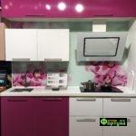 кухня цвет-сиреневый, стиль-модерн, тип-прямая, кухня модерн М66
