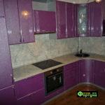 кухня цвет-сиреневый, стиль-модерн, тип-угловая, кухня модерн М31