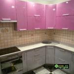 кухня цвет-сиреневый, стиль-модерн, тип-угловая, кухня модерн М32
