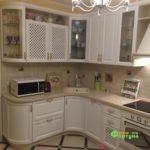 кухня цвет-слоновая кость, стиль-классический, тип-радиусная, кухня-классическая К29-1