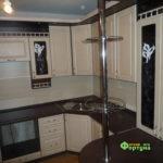 кухня цвет-слоновая кость, стиль-классический, тип-с барной стойкой, кухня-классическая К27