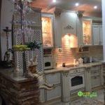 Кухня цвет-слоновая кость, стиль-классический, тип-угловая, кухня классическая К58-1