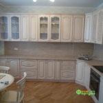 кухня цвет-снежная, стиль-классический, тип-угловая, кухня классическая К23