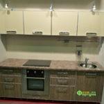 кухня цвет-зебрано, стиль-модерн, тип-прямая, кухня модерн М03