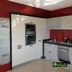 кухня цвет-зебрано, стиль-модерн, тип-встроенная, кухня модерн М21
