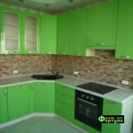 кухня цвет-зеленый, стиль-модерн, тип-угловая, кухня модерн М27