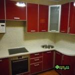 кухня красная, стиль-модерн, тип-угловая, кухня модерн М41
