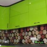 кухня зеленая, стиль-модерн, тип-угловая, кухня модерн М45-1