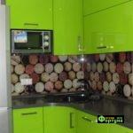 кухня зеленая, стиль-модерн, тип-угловая, кухня модерн М45