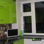 кухня зеленая, стиль-модерн, тип-угловая, кухня модерн М45-2