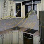 цвет- белый, стиль- классический, тип- угловая, классическая кухня К44
