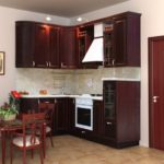 цвет- бордо, стиль- классика, тип- угловая, кухня Аделия