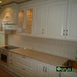 кухня цвет-белая, стиль-кантри, тип-прямая, кухня кантри К3