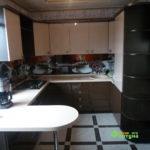 кухня цвет-венге, стиль-модерн, тип-п-образная, кухня модерн М07